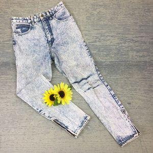 Vintage Guess highrise skinny acid wash jeans